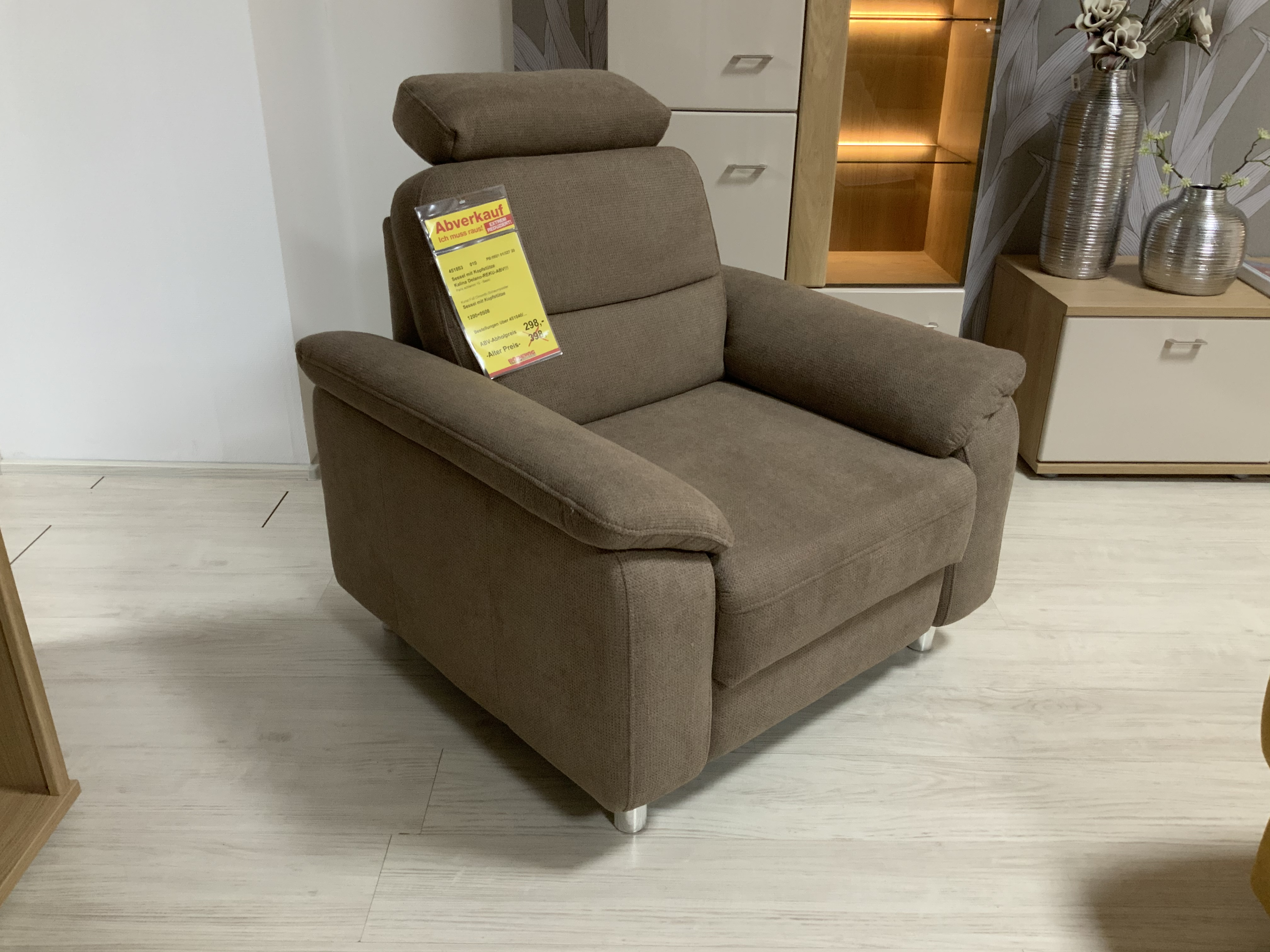 Sessel mit Kopfstütze Farbe Schlamm 451053-010